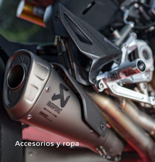 accesorios de la ducati streetfighter v4 canarias