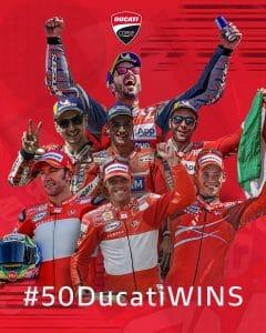 50 victorias de Ducati en MotoGP
